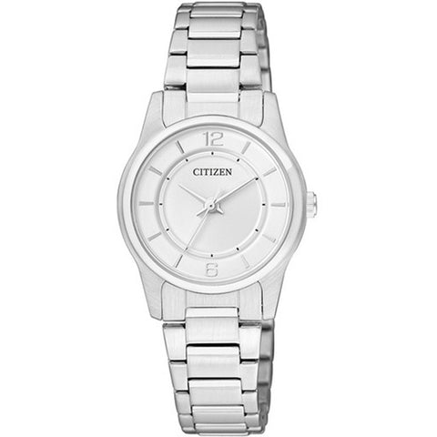 Citizen Analog WR Quartz Ladies Silver Stainless Steel Watch ER0180-54A