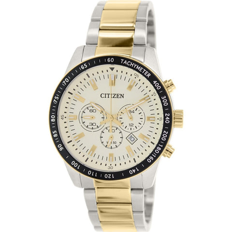 Citizen Chronograph Gold Stainless Steel Watch AN8074-52P
