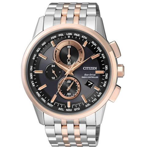 Citizen Eco-Drive Global Radio Controlled Chrono Sapphire Gents Watch AT8116-65E