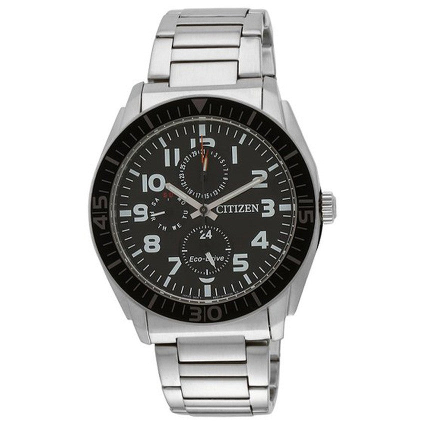 Citizen Eco-Drive Men's Silver Stainless Steel Band Watch AP4010-54E