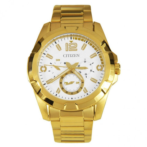 Citizen Gold Tone Stainless-Steel Quartz  Men's Analog Watch AG8332-56A