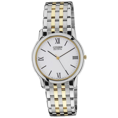 Citizen Men's Eco-Drive Stainless Steel Two Tone Gold Solar Watch AR0019-67A