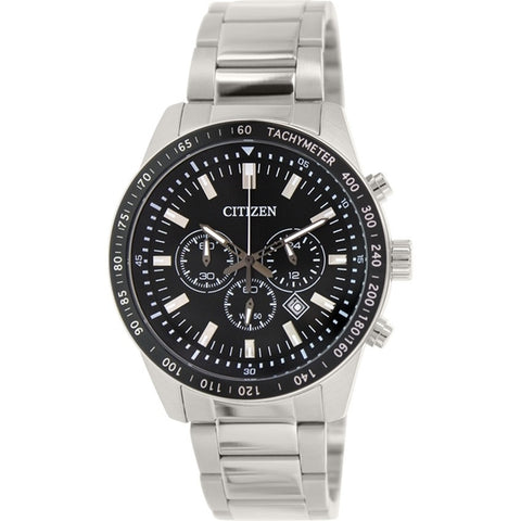 Citizen Men Stainless Steel Chronograph Tachymeter With Date Watch AN8070-53E