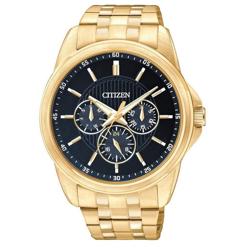 Citizen Men's Analog Display Quartz Gold Tone Stainless Steel Dress Watch AG8342-52L