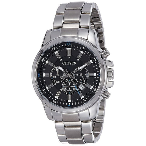 Citizen Men's Black Dial Chronograph Stainless Steel Analog Watch AN8085-56E