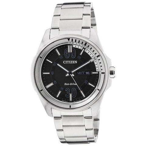 Citizen Men's Black Dial Stainless Steel Analog Watch AW0030-55E