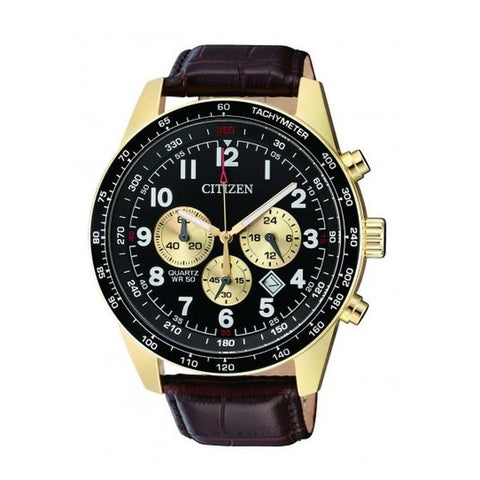 Citizen Men's Black Leather Strap Watch AN8162-06E