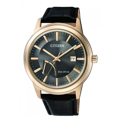 Citizen Men's Black Leather Strap Watch AW7013-05H