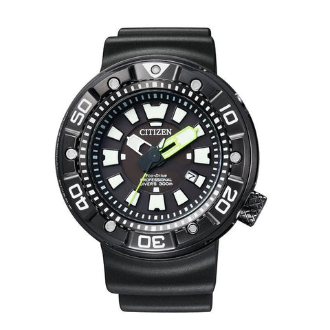 Citizen Men's Black Marine Silicon Strap Watch BN0177-05E