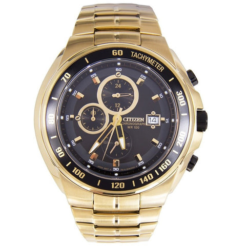 Citizen Men's Chronograph Gold Plated Analog Sports Watch AN4012-51E