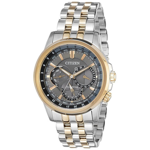 Citizen Men's Eco-Drive Analog Silver Dial Stainless Steel Watch BU2026-65H