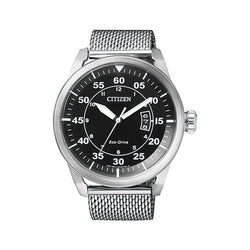 Citizen Men's Eco Drive Aviator Stainless Steel Analog Watch AW1360-55E