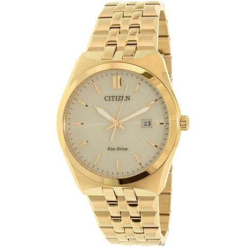 Citizen Men's Eco-Drive Gold Stainless-Steel Watch BM7332-61P