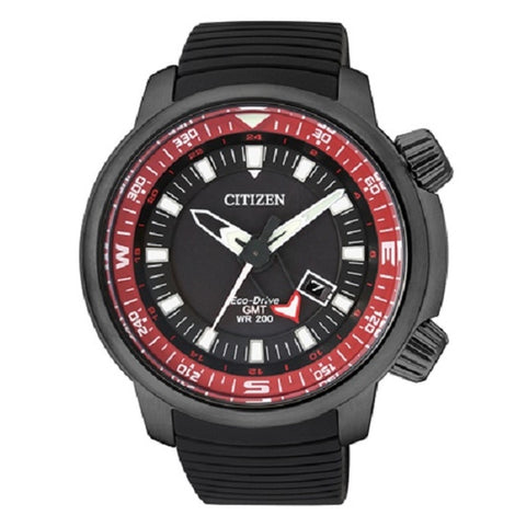 Citizen Men's Eco-Drive Promaster Land GMT Stainless Steel Black Ion Plating Watch BJ7086-06E