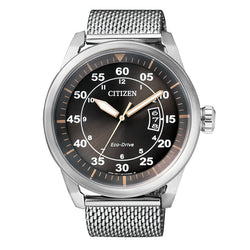 Citizen Men's Eco-Drive Watch Stainless Steel Black Dial AW1360-55F