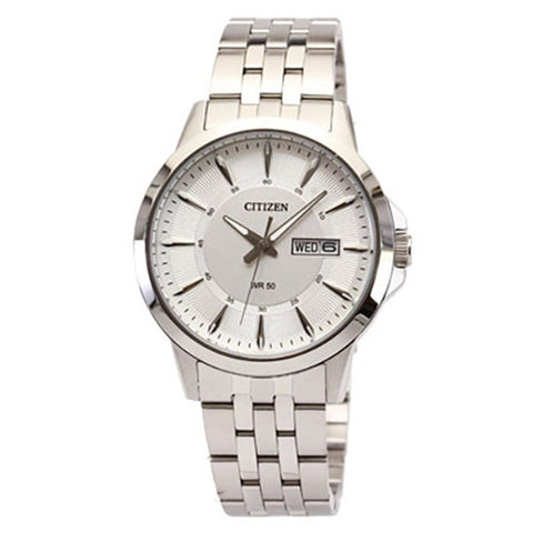 Citizen Men's Quartz Stainless Steel White Dial Analog Watch BF2017-55A