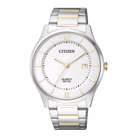 Citizen Men's Silver Gold Two Stainless Steel Watch BD0043-83E