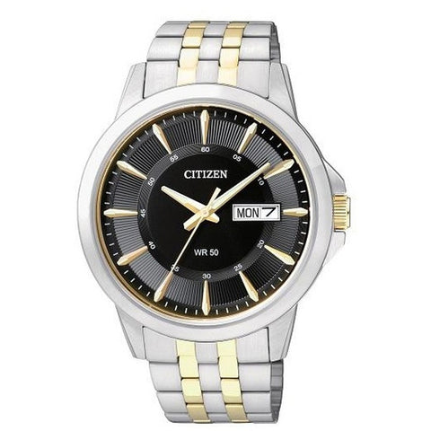 Citizen Men's Silver Gold Two tone Stainless Steel Strap Watch BF2018-52H