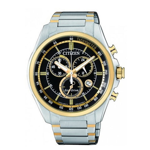 Citizen Men's Silver Gold Two tone Stainless Steel Watch AN8164-51E