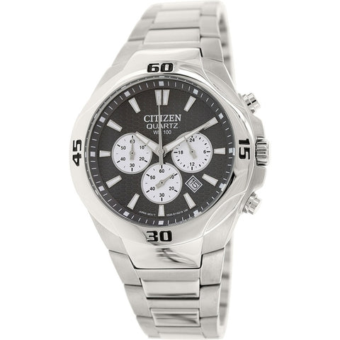 Citizen Men's Sports Silver Stainless-Steel Chronograph Quartz Watch AN8020-51H