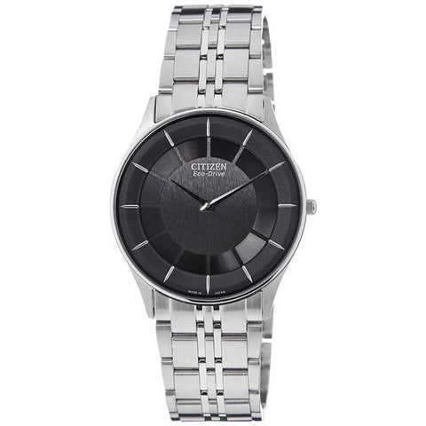 Citizen Men's Ultra Slim Black Dial Stainless Steel Watch AR3010-65E