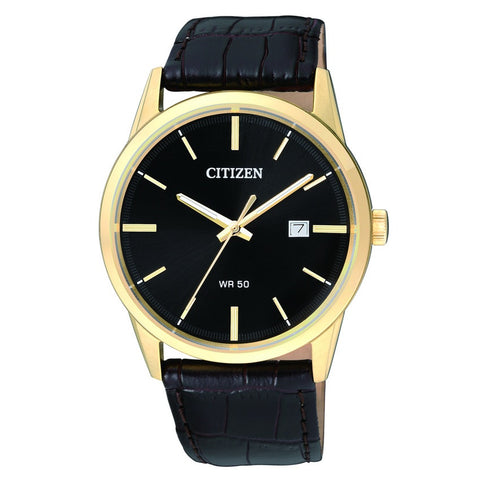 Citizen Quartz Casual Mens Watch Leather BI5003-03E