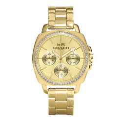 Coach 14502080 Women's Boyfriend Gold- Plated Watch