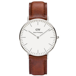 Daniel Wellington Classic St Mawes White Dial Brown Leather Ladies Watch 0607DW DW00100052