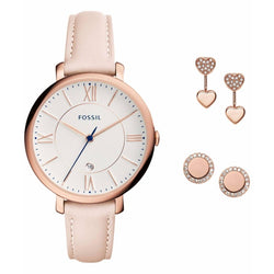 FOSSIL Jacqueline Quartz Watch rosegold Watch And Earrings SET ES4202SET