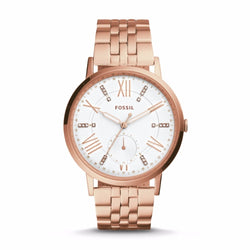 FOSSIL LADIES GAZER MULTIFUNCTION ROSE GOLD-TONE STAINLESS STEEL WATCH ES4246