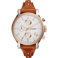 FOSSIL Original Boyfriend Chronograph Silver Dial Ladies Watch ES3837