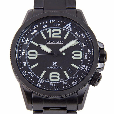 Japan Seiko Prospex Automatic Black Stainless Steel Men Watch SRPA73J1 SRPA73(Black)