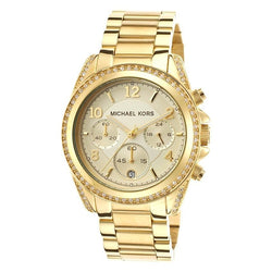 Michael Kors Women's Gold Stainless Steel Strap Watch MK5166(Gold)