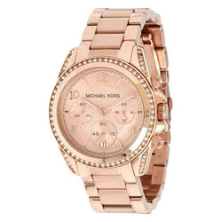 Michael Kors Women's Rose Gold Stainless Steel Strap Watch MK5263