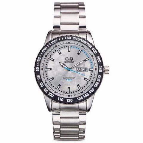 Q&Q A194-201Y By Citizen Stainless Steel Grey Dial Analog Mens Watch