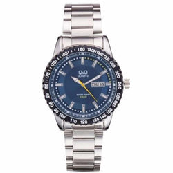 Q&Q A194-212y by Citizen Stainless Steel Blue Dial Analog Mens Watch