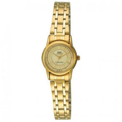 Q&Q Ladies Gold Stainless Steel Gold Dial Analog Casual Watch Q621-010Y