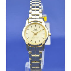 Q&Q Ladies Gold Stainless Steel Gold Dial Casual Watch Q649-010Y