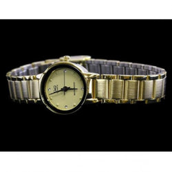 Q&Q Ladies Gold Tone Stainless Steel Analog Watch Q211-010Y