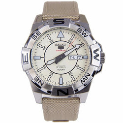 Seiko 5 Sports Automatic Beige Bracelet 100m Male Watch SRPA67K1 SRPA67(Beige)