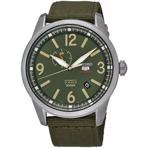 Seiko 5 Sports Automatic Mens Watch Nylon Strap SSA299K1