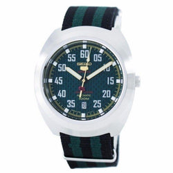 Seiko 5 Sports Limited Edition Automatic Japan Made Men's Black & Green Nylon Strap Watch SRPA89J1