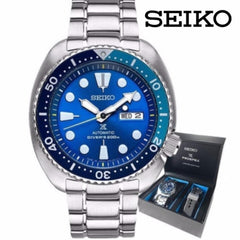 Seiko Prospex Limited Edition Turtle Blue Lagoon Mens Stainless Steel Watch SRPB11J1 SRPB11J