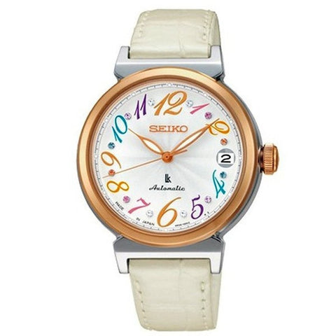 Seiko Women's Leather Strap Watch SRP864J1