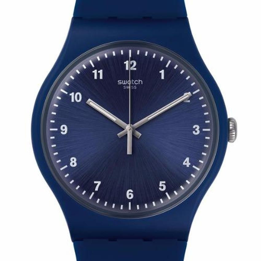 Swatch Men's Mono Blue Silicone Strap Watches SUON116