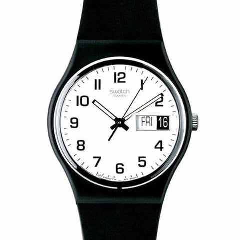 Swatch Men's Once Again Black Resin Strap Watch GB743