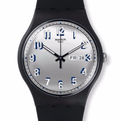 Swatch Men's Secret Service Silicone Strap Watches SUOB718