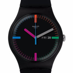 Swatch Men's The Indexter Silicone Strap Watches SUOB719