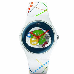 Swatch Women's Dots In Rio Silicone Strap Watches SUOW128