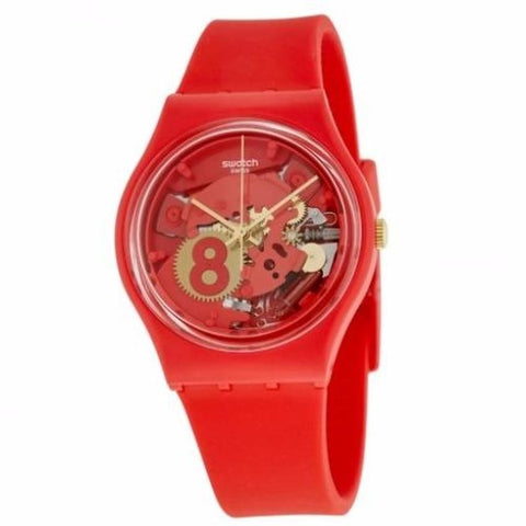 Swatch Women's Eight for Luck Silicone Strap Watches GR166